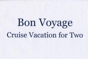 Bon Voyage Blue Foil Envelope scan